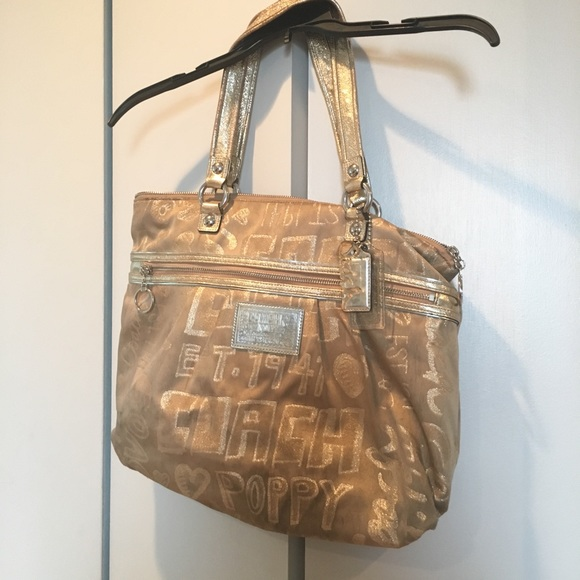 Coach Handbags - Gold Poppy Coach purse